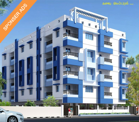 Flat for sales in Jaya lakshmi Avenue , Near New Bus Stand .