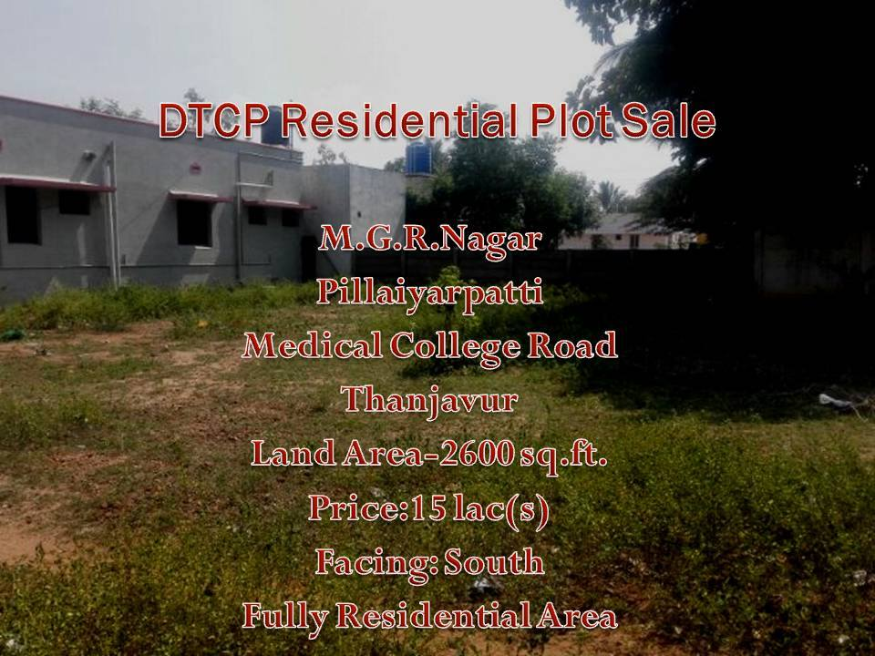 DTCP Low Price plot for sale M.G.R.Nagar plot for sale