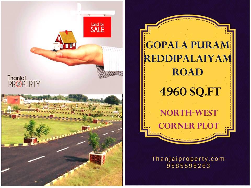 Gopalapuram Reddipalaiyam Road Plot Sale Corner Plot