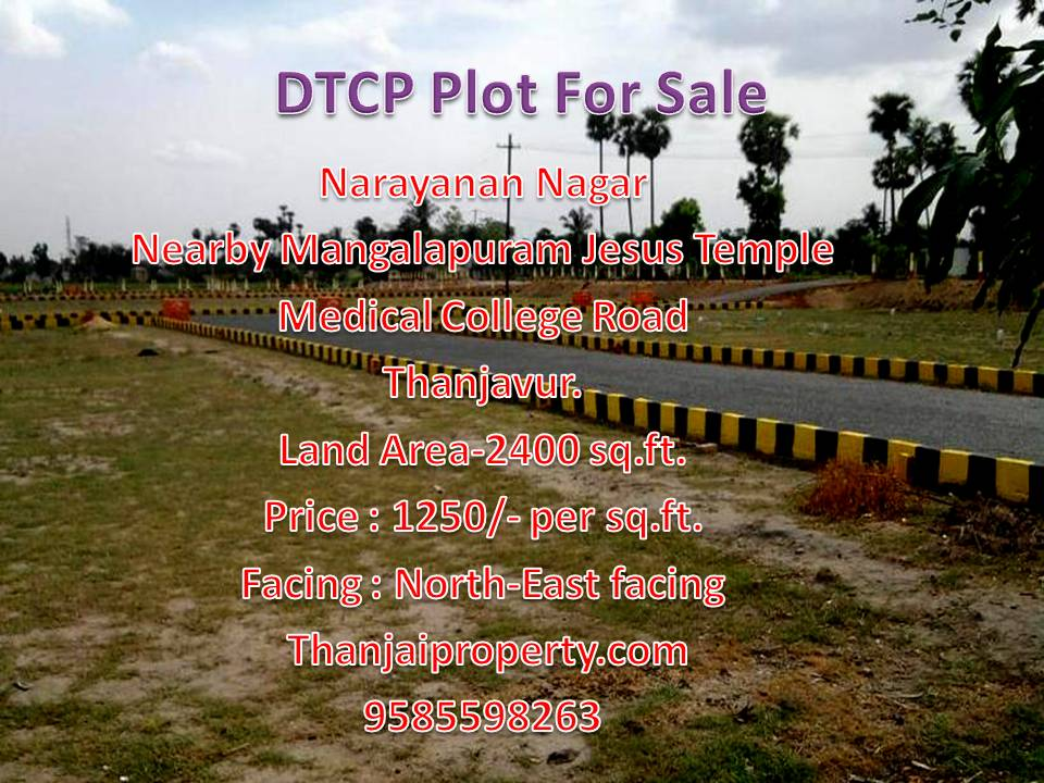 Narayanan Nagar DTCP Plot for sale